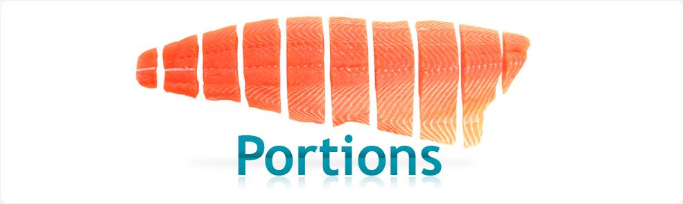 Salmon portions